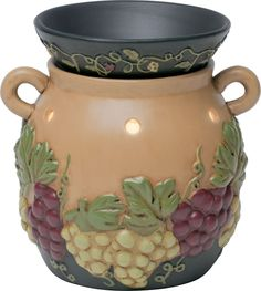 Grapevine is the perfect warmer for the popular grape kitchen theme! You can find this warmer and other warmers fit for your theme Wine Theme Kitchen, Grape Kitchen Decor, Turquoise Kitchen Decor, Kitchen Themes, Kitchen Ideas, Plug In Wax Warmer, Candle Wax Warmer, Scented Wax Warmer, Wax Warmers