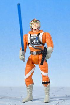 "Star Wars X-Wing Pilot LUKE SKYWALKER 3.75"" Action Figure POTF Kenner 1995  #Kenner"