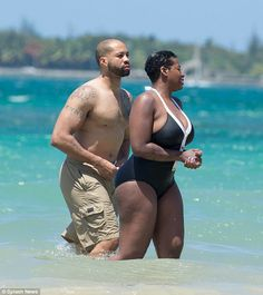 Newlyweds: Fantasia Barrino, 31, went on a romantic honeymoon in Puerto Rico with her husband Kendall Taylor after marrying last week on a yacht in North Carolina