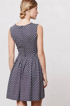 Pleated Dots Dress - anthropologie.com