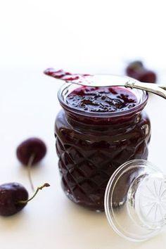 A quick & easy cherry jam, no pectin, just cherries, sugar and lemon juice   by @mjskitchen  mjkitchen.com