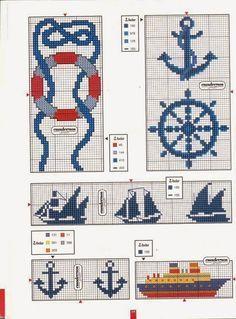 BeyazBegonvil I Kendin Yap I Alışveriş IHobi I Dekorasyon I Kozmetik I Moda blogu: Denizci Temalı Kanaviçe Şablonları
