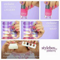 Oh my Jamberry!!! Exclusive holographic wraps!! Stylebox has all exclusive designs, free shipping, and this month is only available until July 15! https://m.youtube.com/watch?v=_didP1Xq0mw&feature=youtu.be Get yours: www.kerriberry.jamberrynails.net #exclusive #holographic #fashion #style #nails #nailart #neon #manicure #pedicure #summer #subscription #vegan #glutenfree #crueltyfree