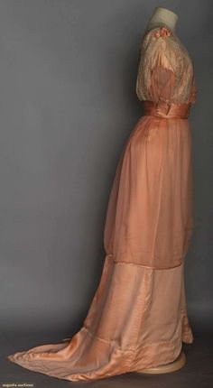 Buy online, view images and see past prices for TRAINED PINK SILK BALL GOWN, c. 1912. Invaluable is the world's largest marketplace for art, antiques, and collectibles.