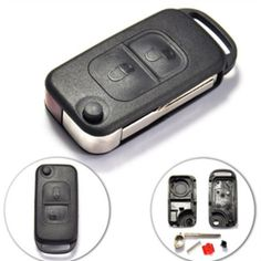 Free shipping for Remote Flip Folding car Key Shell case cover  for Benz 2button 2track without Logo #Affiliate