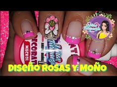 Decoración de Uñas moña y Rosas/DISEÑO DE UÑAS LINDAS - YouTube Toe Nails, Mini, Youtube, Beauty, Flower, Nail Designs, Butterflies, Feet Nails, Toenails
