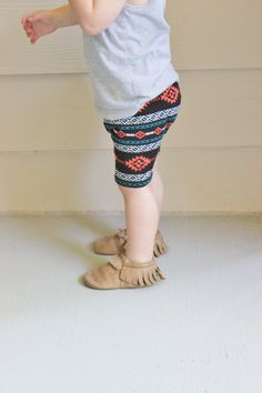 Baby & Toddler // Jersey Knit Spring or Summer Shorts, Baby Shower Gift, Photo Prop, Hipster Baby Clothes, Modern, Aztec Tribal Shorts