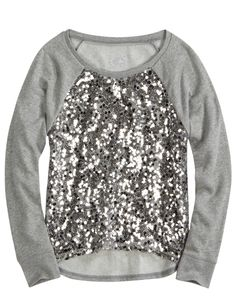 Sequin Hi-low Yoga Pullover | Long Sleeve | Tops & Tees | Shop Justice for Emily