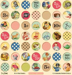 vintage~ I have this scrapbook paper & am wanting to use them as magnets after I mod-podge them...