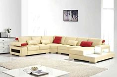 Looking for a new Modern Sectional Sofas With Chaise? Every year because you're not receiving a sofa it should be lasting. Sofa Uk, Sectional Sofa With Chaise, Leather Sectional, Beige Sectional, Sofa Sofa, Modern Sectional, Modern Sofa, Cream Leather Sofa, Quality Sofas