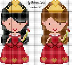 princesa ponto cruz, ponto x menina, princess cross stitch