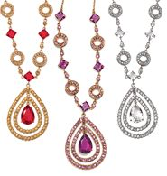 """FOREVER selected by Paula Abdul Look of Fine Teardrop Necklace - Faceted faux stones with rhinestones. 16 1/2"""" L with 3 1/2"""" extender. Regularly $30.00, buy Avon Jewelry online at http://eseagren.avonrepresentative.com/"""