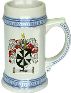 Eaton Coat of Arms / Family Crest stein mug $21.99