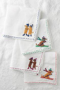 Stitched Dachshund Napkin Set
