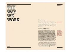 22 best employee handbook design images on pinterest employee