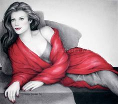 GIRL IN RED   Pastel and Charcoal/Morgan Kari Artist