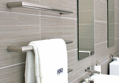 DC Short Scarpa Heated Towel Rail | Sydney Tap and Bathroomware