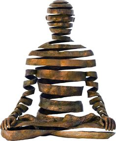 Bronze Figures Use Negative Space to Convey Spiritual Energy by Sukhi Barber.