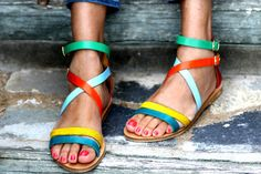 Sandals Flipper handmade to order