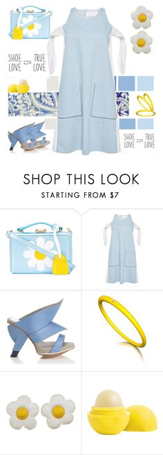"""""""Sundress Heaven"""" by petalp ❤ liked on Polyvore featuring Mark Cross, Zayan The Label, Abcense, Eos and sundress"""