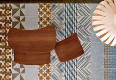Patricia Urquiola's new glazed porcelain tiles called Mutina Azulej for Academy tiles