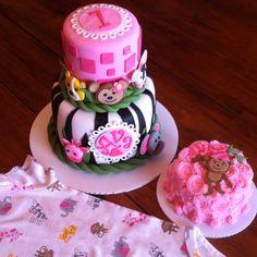 1st birthday. girl cake