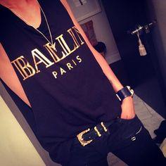 t-shirt alex and chloe alex & chloe ballin paris ballin paris balmain hermes chanel celine black gold black and gold muscle tee shirt