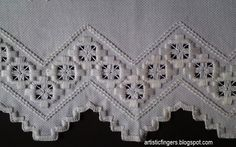 Hardanger Embroidery Tutorial nice edging and filling stitch Hardanger Embroidery, Embroidery Stitches, Embroidery Patterns, Hand Embroidery, Types Of Embroidery, Learn Embroidery, Bookmark Craft, Drawn Thread, Cross Patterns