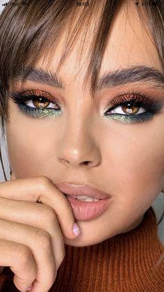 Nude Makeup, Flawless Makeup, Glam Makeup, Skin Makeup, Beauty Makeup, Bold Makeup Looks, Colorful Eye Makeup, Makeup For Green Eyes, Makeup Trends