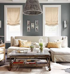 A little gray and white goes a long way  Love this mix of neutrals. This is our latest room redo on the blog today! Hope you like!  from @betterhomesandgardens #roomredo #livingroom #copycatchic #livingroomdecor #livingrooms #thelivingroom #livingroomdesign #CopyCatChic