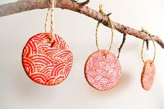 Christmas handmade decoration set of 4  Christmas by AstaArtwork, $12.90