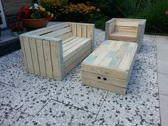 Pallets (furniture) would look good with cushions - http://dunway.info/pallets/index.html