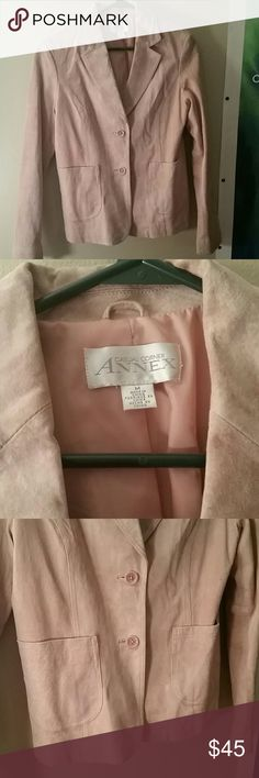 Pink leather blazer Casual Corner Annex pink leather blazer. Size medium. Has cute pockets in the front and buttons. Light pink. Casual Corner Annex Jackets & Coats Blazers