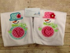 Winter Wonderland Monogrammed Snowman Shirt by DesignsbyApril1234