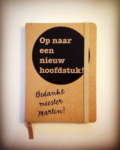 Afscheidscadeau juf / meester - Notitieboekje - Hippe muurstickers