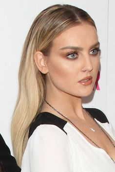 Perrie Edwards of Little Mix arriving at the 2014 Glamour Women Of The Year Awards at Berkeley Square Gardens in London on June 3, 2014 Golden Blonde, Light Brown, Dark Roots, Long, Straight,