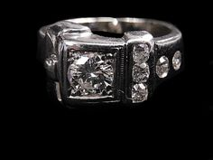 DIAMOND BUCKLE RING 1 | Antique Mens Jewelry NYC | Vintage Mens Rings NYC | Estate Jewelry NYC