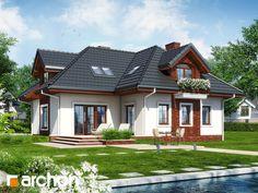 projekt Dom w chabrach widok 1
