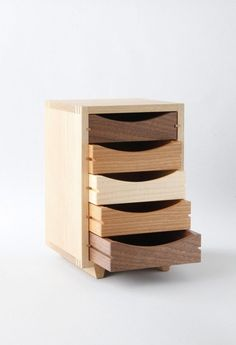 love the wooden draws for my art studio