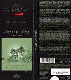 tablette de chocolat noir dégustation valrhona noir de domaine gran couva trinidad 2013