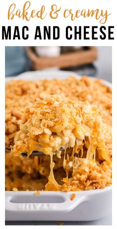 This baked mac and cheese is such an easy freezer meal!! It is full of flavor with 4 different types of cheese, and is SO much better than the boxed stuff. You will never go back!! #easy #makeahead #freezerfriendly #simple #comfortfood | happymoneysaver.com Vegetarian Freezer Meals, Chicken Freezer Meals, Freezer Friendly Meals, Healthy Freezer Meals, Freezer Cooking, Freezer Recipes, Creamy Macaroni And Cheese, Mac And Cheese Homemade, Easy Weekday Meals