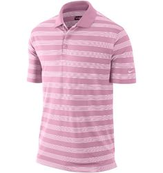 Nike Men's Dri-FIT Premium Stripe Short Sleeve Polo | Perfect Pink