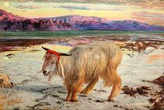Hunt, William, (1827-1910), The Scapegoat, 1854, Oil