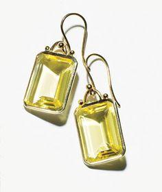 Help mom shine with these lemon-quartz drop earrings