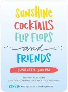 Another CUTE summer party invite!