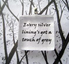 Grateful Dead Touch Of Grey Lyric Glass Tile Pendant