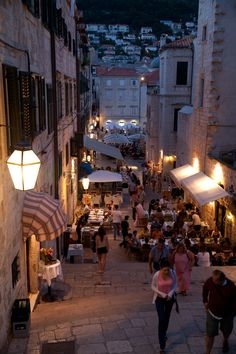 This must be an evening street of Dubrovnik in Croaia.