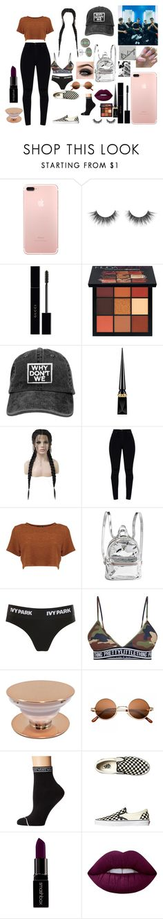 """""""Meet and greet with WDW"""" by janielproperty on Polyvore featuring Gucci, Huda Beauty, Christian Louboutin, WithChic, Ivy Park, Vans, ASAP, Smashbox and Lime Crime"""