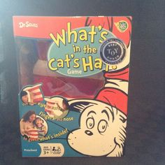 NIB Dr Suess Whats In The Cat's Hat Children's Game Kids Guess Creativity Fun #DrSuess