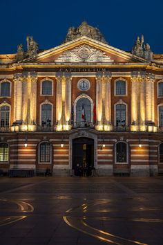 Ville Rose, Tourist Board, Toulouse France, Nocturne, Destinations, Bucket, Mansions, Architecture, Night